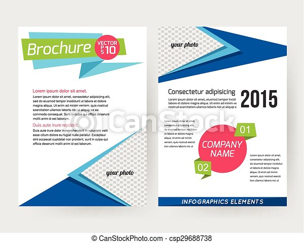 Corporate business stationery brochure template with infographics corporate business stationery brochure template with infographics elements and place for photo friedricerecipe Choice Image