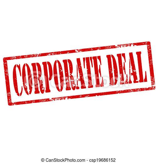 Corporate Deal-stamp - csp19686152