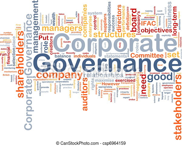 Corporate governance background concept - csp6964159