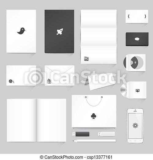 Corporate Identity Mockup Templates - csp13377161