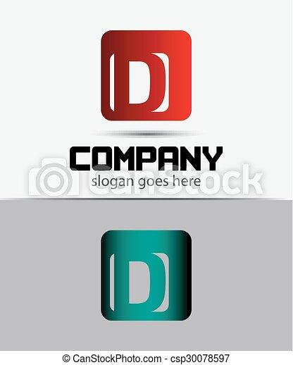 Corporate Logo D Letter company  - csp30078597