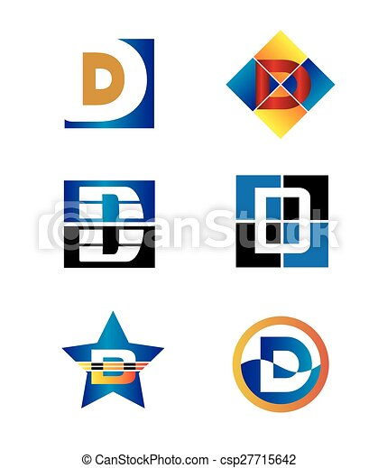 Corporate Logo D Letter company  - csp27715642