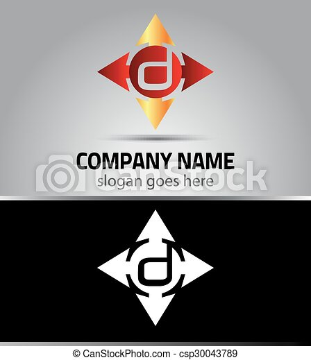 Corporate Logo D Letter company  - csp30043789