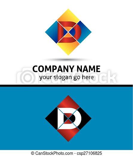 Corporate Logo D Letter company  - csp27106825