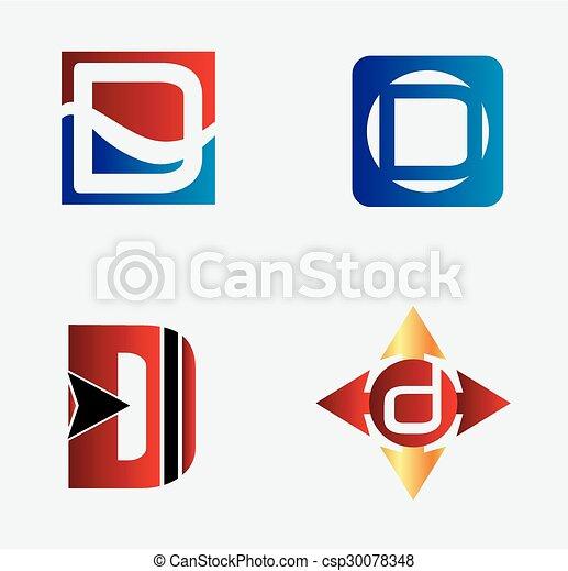 Corporate Logo D Letter company vec - csp30078348