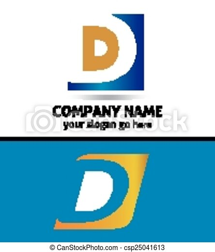 Corporate Logo D Letter company  - csp25041613