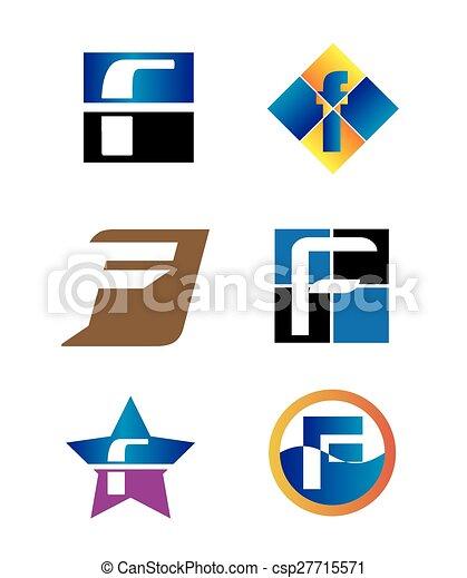 Corporate Logo F Letter company  - csp27715571