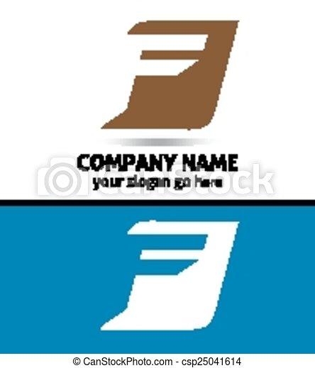 Corporate Logo F Letter company - csp25041614