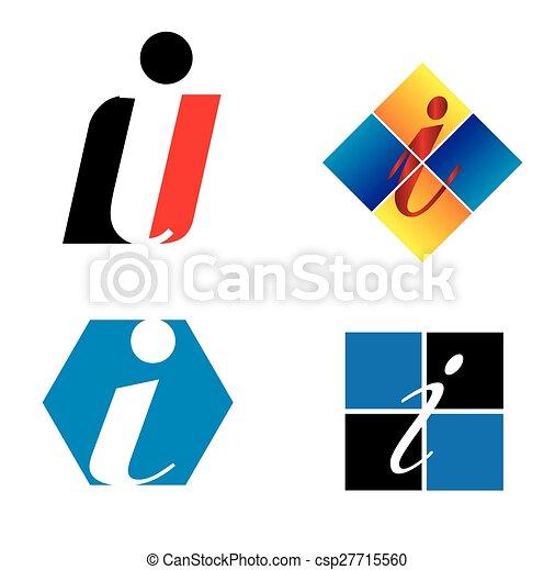 Corporate Logo i Letter company  - csp27715560