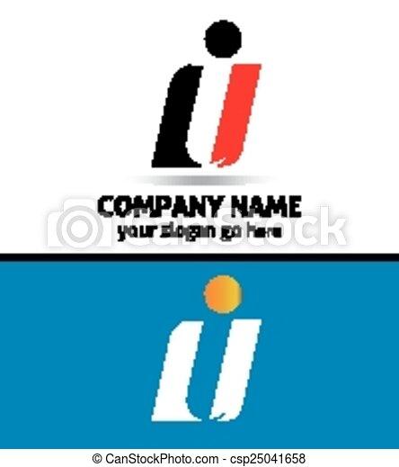 Corporate Logo i Letter company - csp25041658