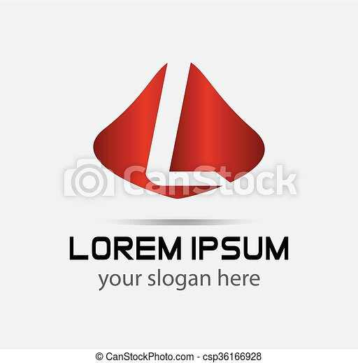 Corporate Logo L Letter company - csp36166928