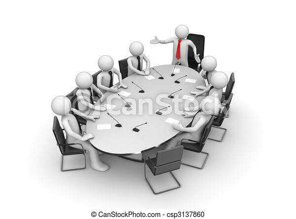 Corporate meeting in conference room - csp3137860