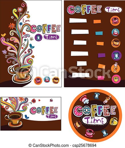 Corporate style for cafe or shop. - csp25678694