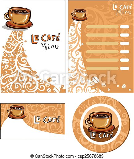 Corporate style for cafe or shop. - csp25678683