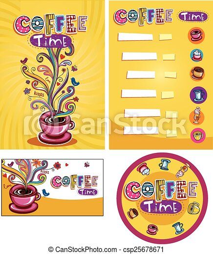 Corporate style for cafe or shop. - csp25678671