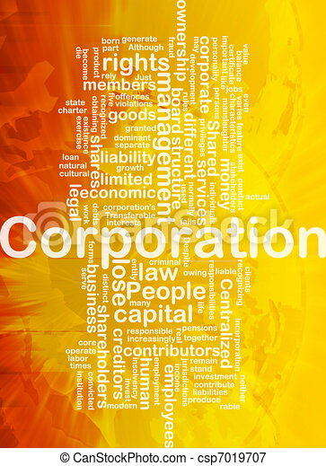 Corporation background concept - csp7019707