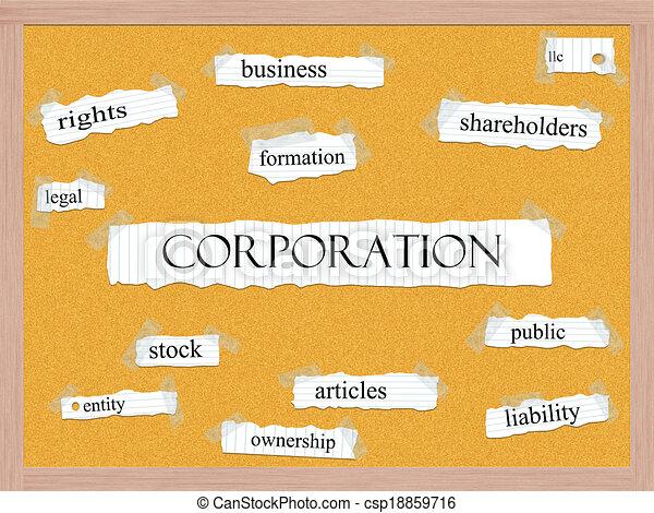 Corporation Corkboard Word Concept - csp18859716
