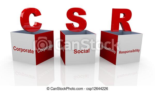 3D cajas de responsabilidad social - csp12644226