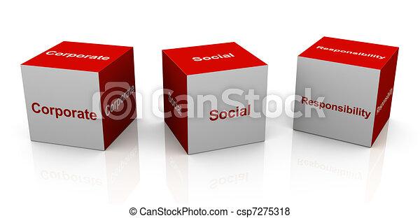 Responsabilidad social corporativa - csp7275318