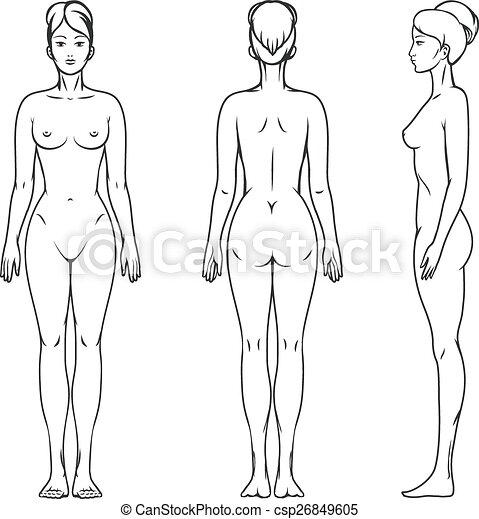 corps, femme - csp26849605