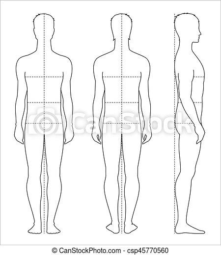 corps, hommes, mesures - csp45770560