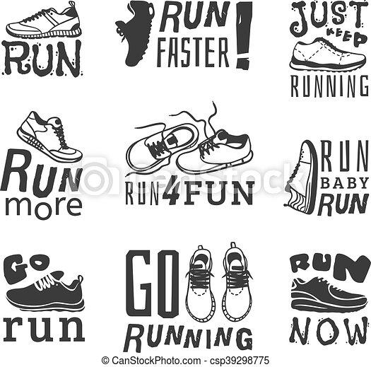 Corre vector de motivación deportiva - csp39298775