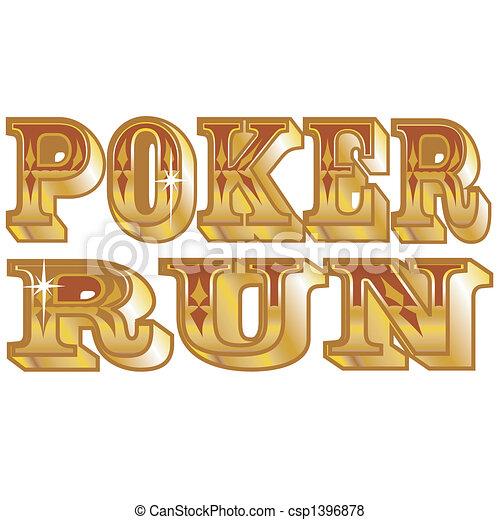 Poker corre arte de clip - csp1396878