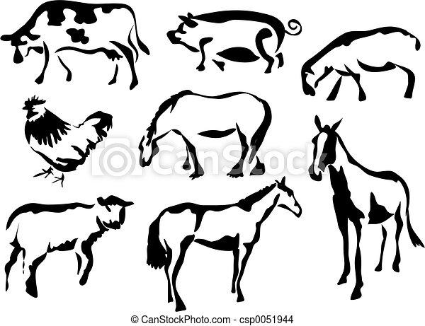 Animales de corral - csp0051944