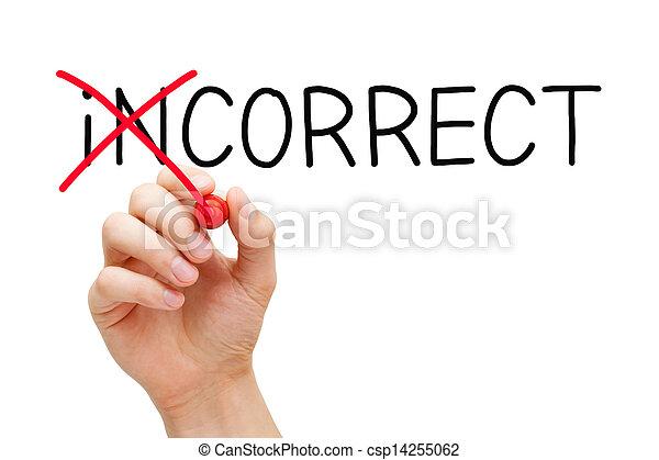 Correct Not Incorrect - csp14255062
