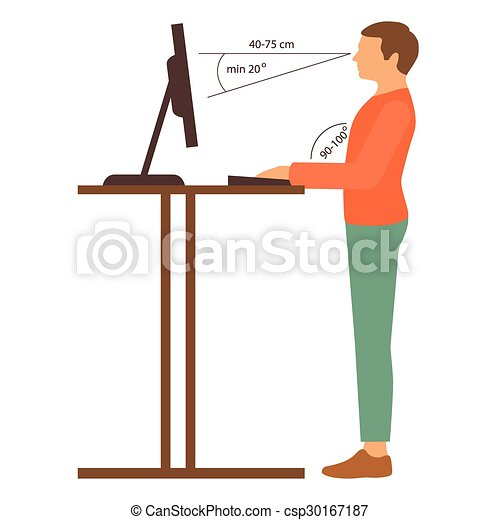 correct posture - csp30167187