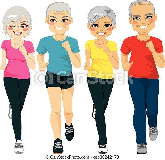 Grupo de corredores senior - csp30242178
