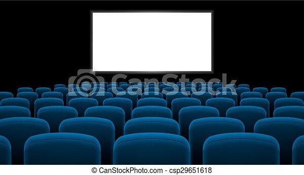 corredor, cinema - csp29651618