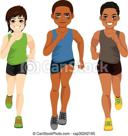 Corredores de diferentes etnias - csp30242165