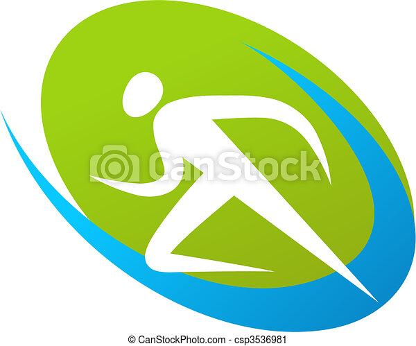 corredor, logotipo, /, ícone - csp3536981