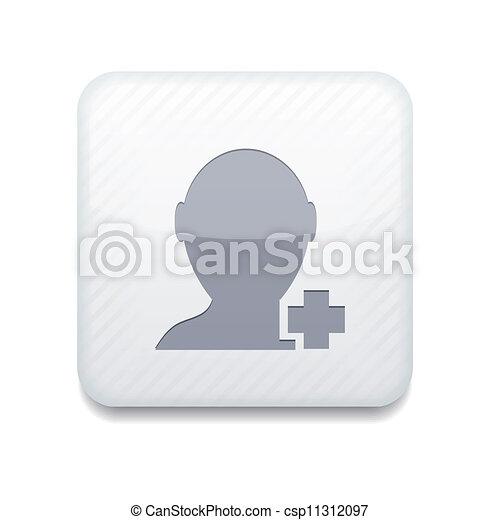 El vector blanco añade icono de amigo. Eps10. Fácil de editar - csp11312097