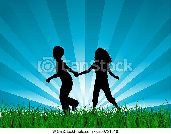 correndo, bambini - csp0721510
