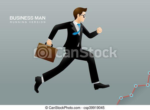 correndo, uomo affari - csp39919045