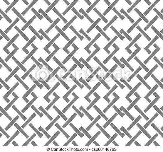 corrente, padrão, corners., seamless, cruzar-se, formas, muitos, geomã©´ricas, linhas - csp60146763