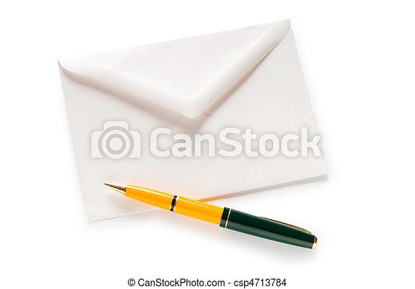 correo, blanco, concepto, sobre, aislado - csp4713784