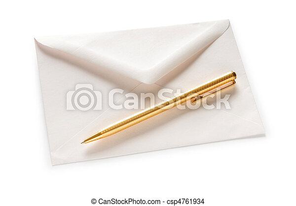 correo, blanco, concepto, sobre, aislado - csp4761934