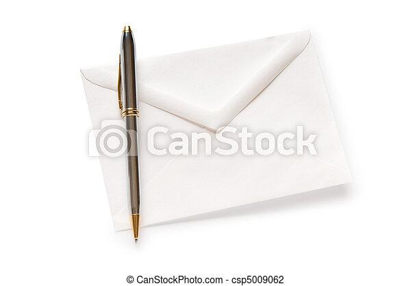 correo, blanco, concepto, sobre, aislado - csp5009062