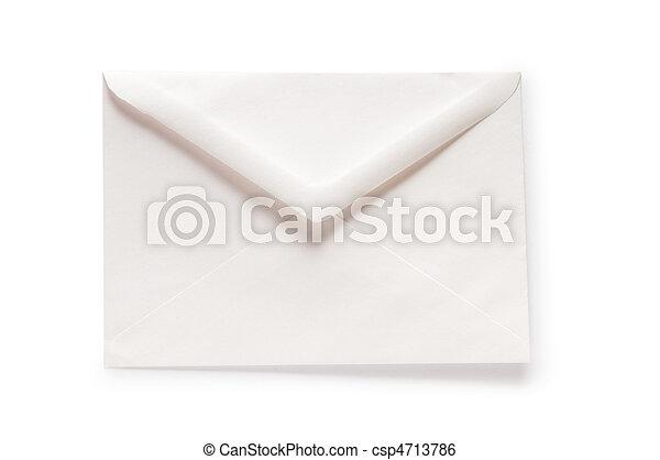 correo, blanco, concepto, sobre, aislado - csp4713786