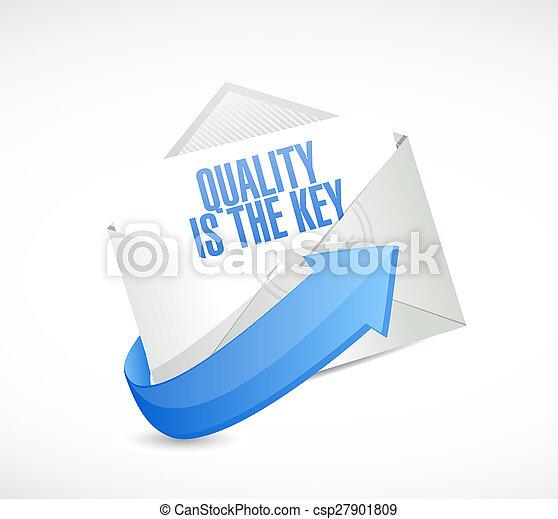 La calidad es el concepto de señal de correo clave - csp27901809