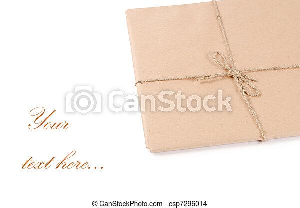 correo, sobre blanco, aislado - csp7296014