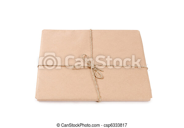 correo, sobre blanco, aislado - csp6333817