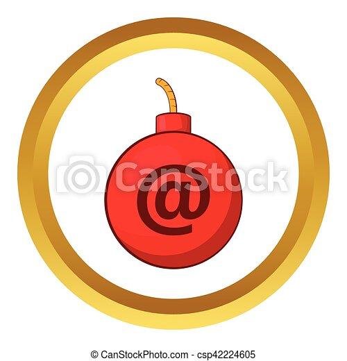 Icono vector de vector de correo - csp42224605