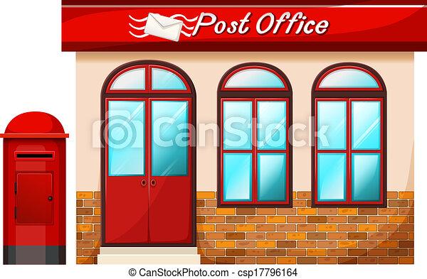 Correos Poste Fondo Blanco Ilustraci N Oficina