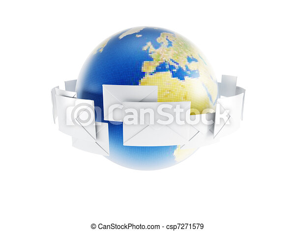 correspondance, mondiale - csp7271579
