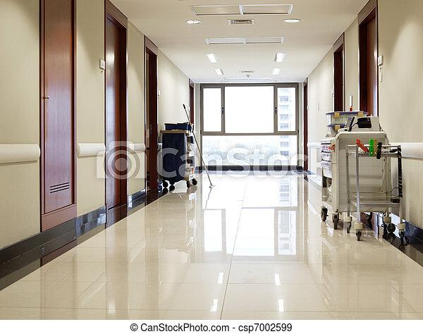 corridoio, ospedale, vuoto - csp7002599