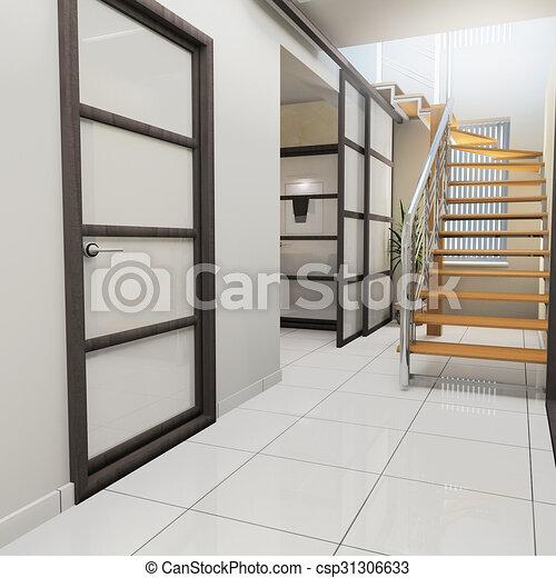 Corridor in modern office - csp31306633